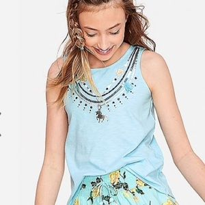 🌼3/$18 NWT Justice Embellished A-line tank
